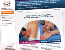 Webdesign site communautaire : Collège des praticiens de Reconstruction Posturale®