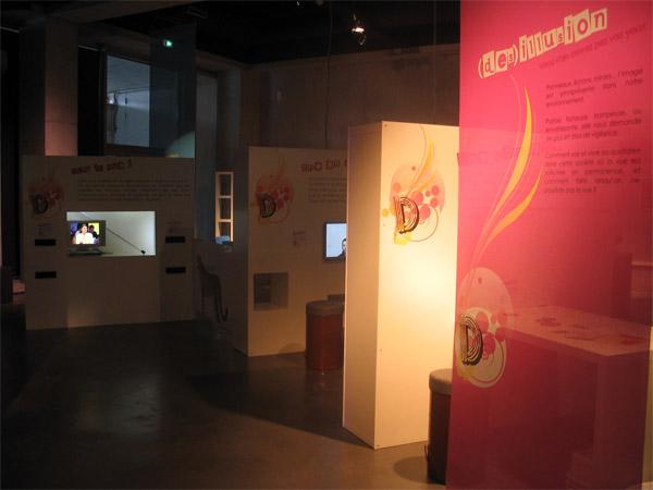 """Illustration des stand de l'exposition temporaire """"En vue"""""""