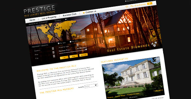 Design graphique site web MLS-prestige