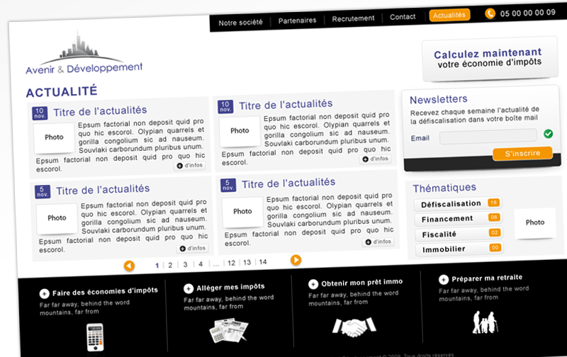Webdesign - Avenir & dev -  Page Actualites