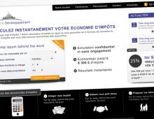 Webdesign site présentation de solutions de défiscalisations
