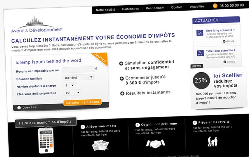 Webdesign - Avenir & dev - accueil