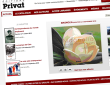 Webdesign site Editions Privat