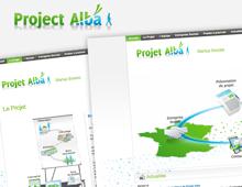 Identité graphique web Projet Alba
