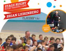 Création Affiche et Flyer pour stages de rugby sur plage